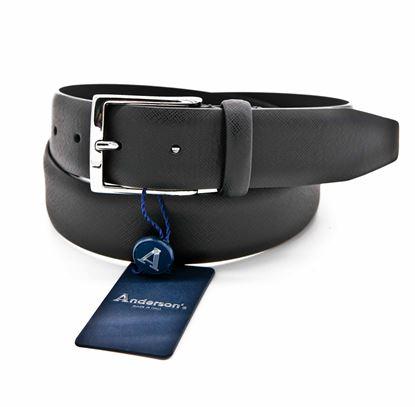 Immagine di Cintura in pelle saffiano nera