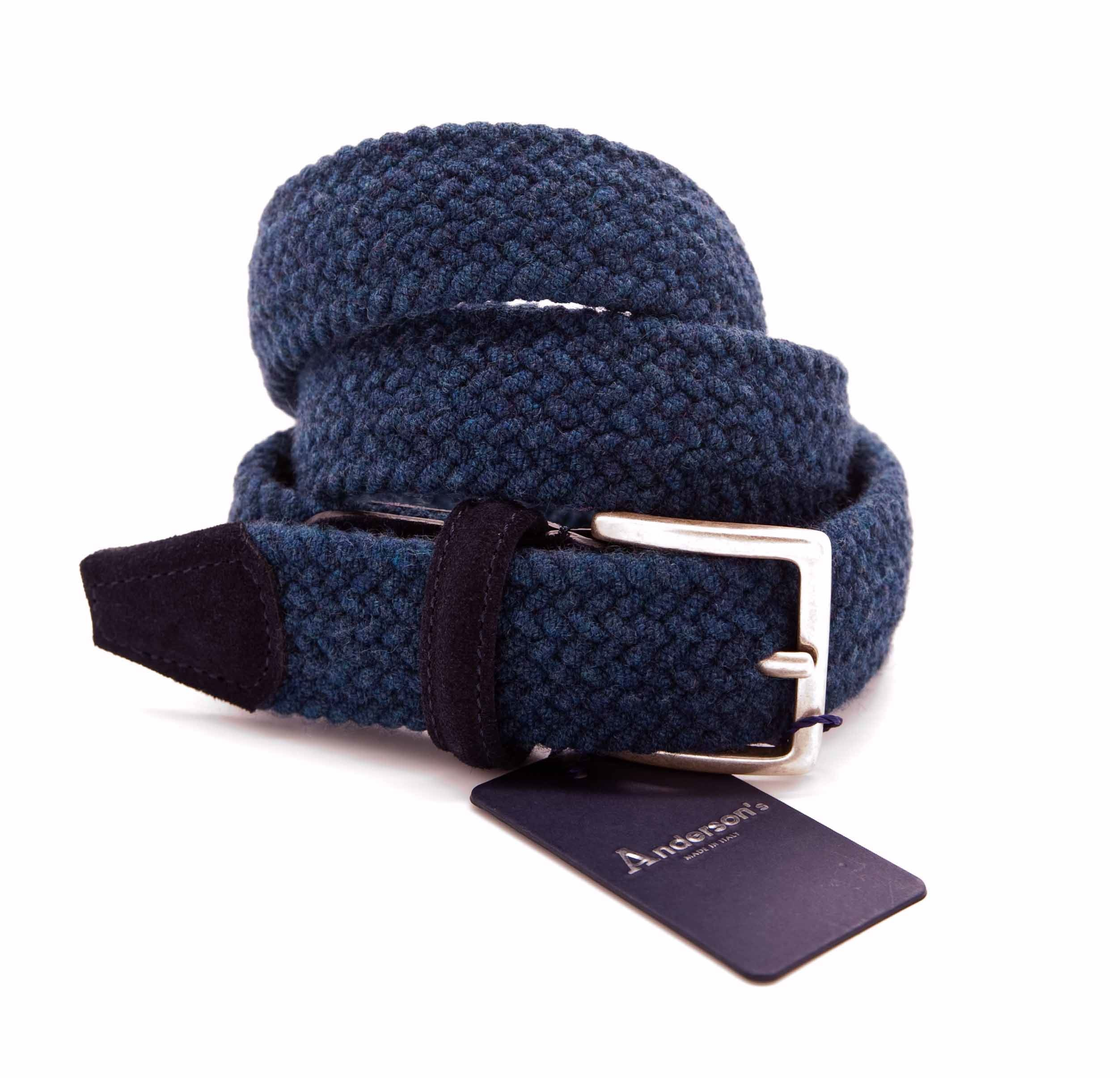 Picture of Light blue stretch wool belt