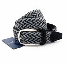 Picture of Black and grey woven stretch wool belt