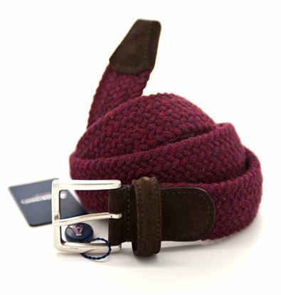 Immagine di Cintura in elastico intrecciato di lana bordeaux