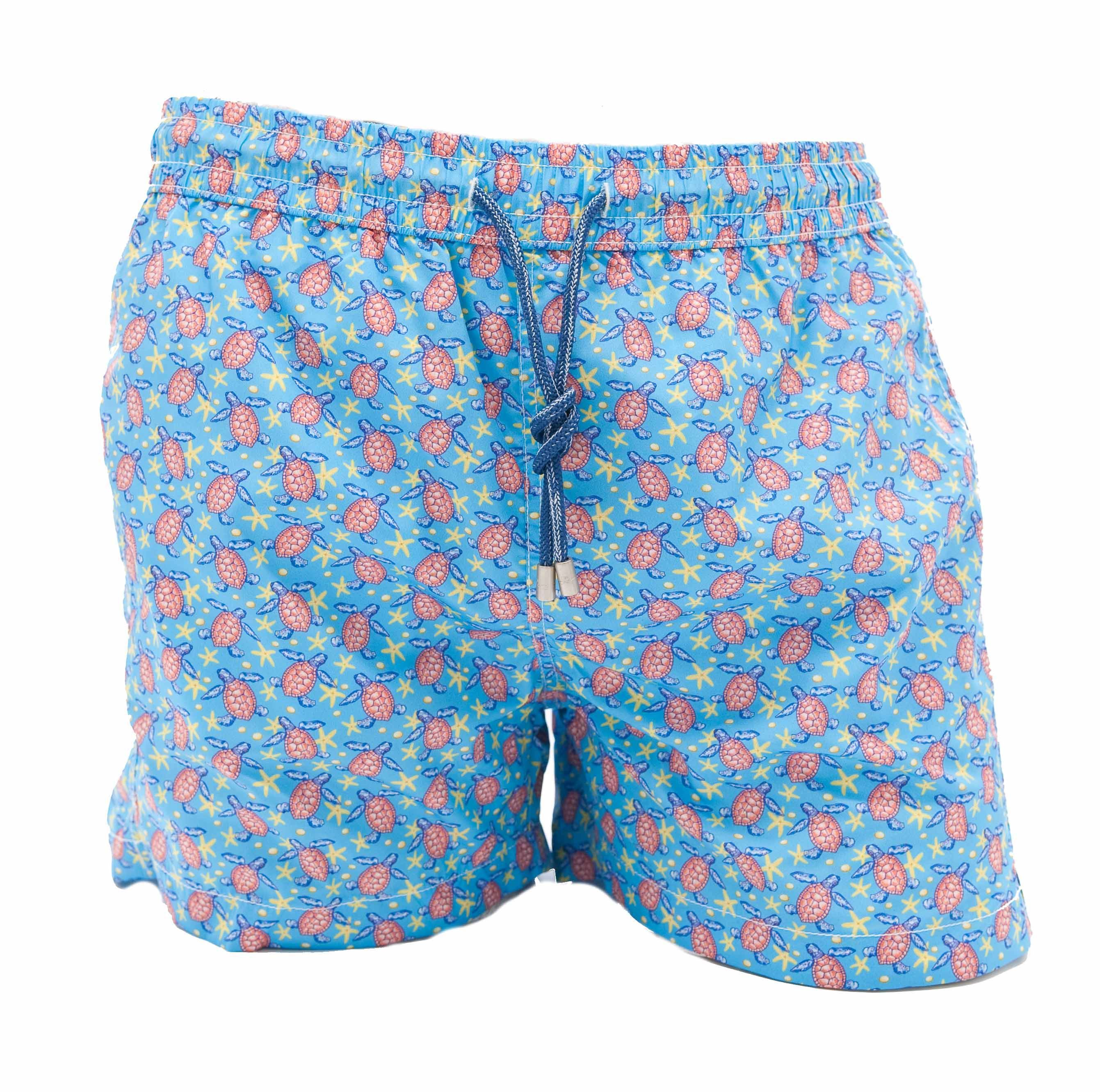 Picture of boxer swimming trunks with turtle pattern