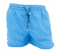 Picture of boxer swimming trunks with light blue background