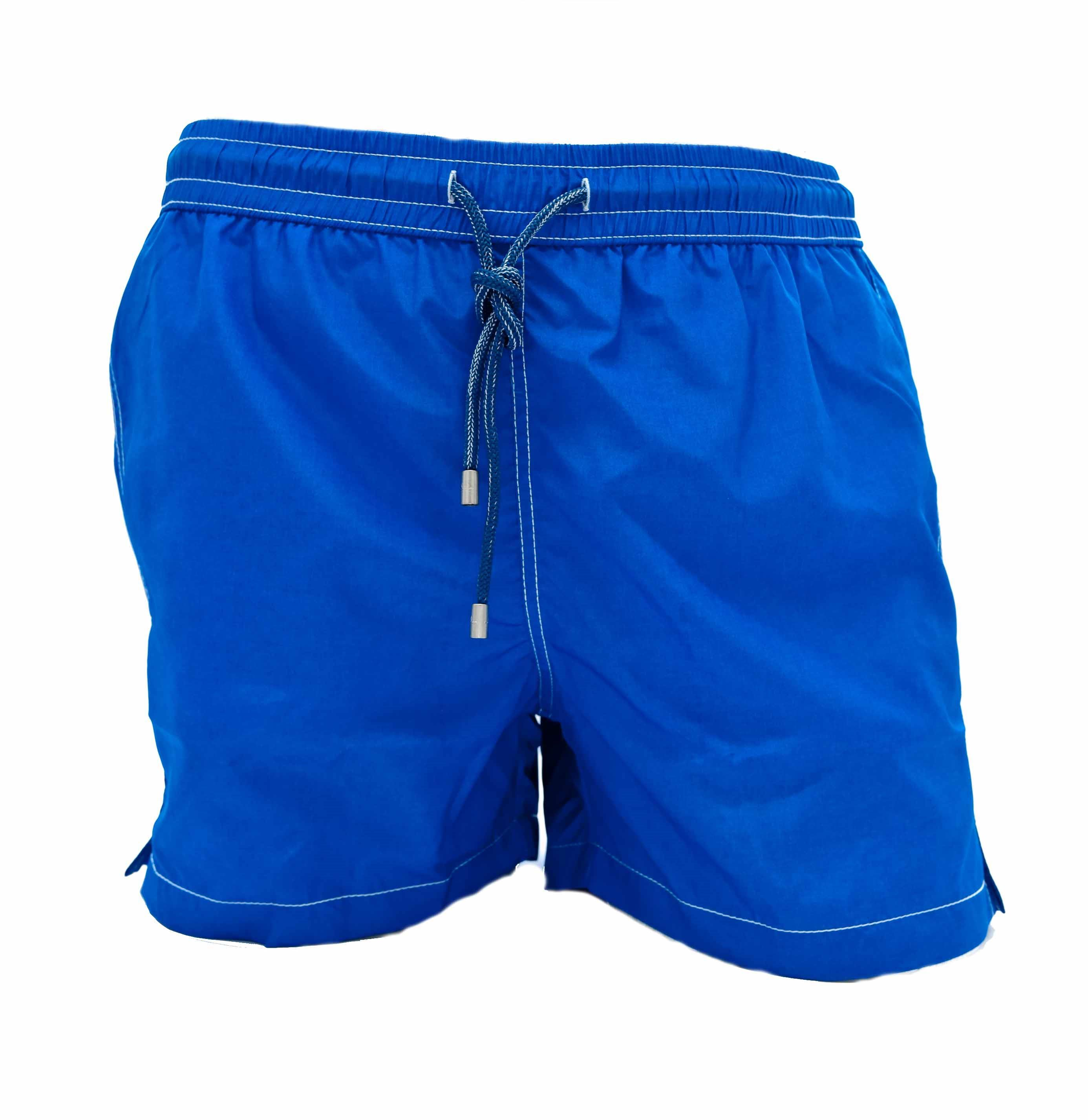 Picture of boxer swimming trunks with blue background