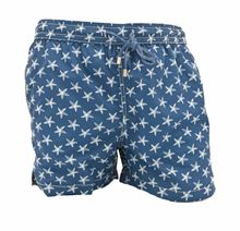 Picture of Boxer swimming trunks with Starfish pattern, with blue background