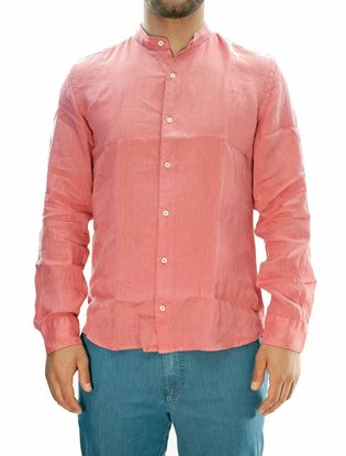 Picture of Pink Linen Long Sleeve Shirt