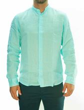 Picture of Turquoise Linen Long Sleeve Shirt