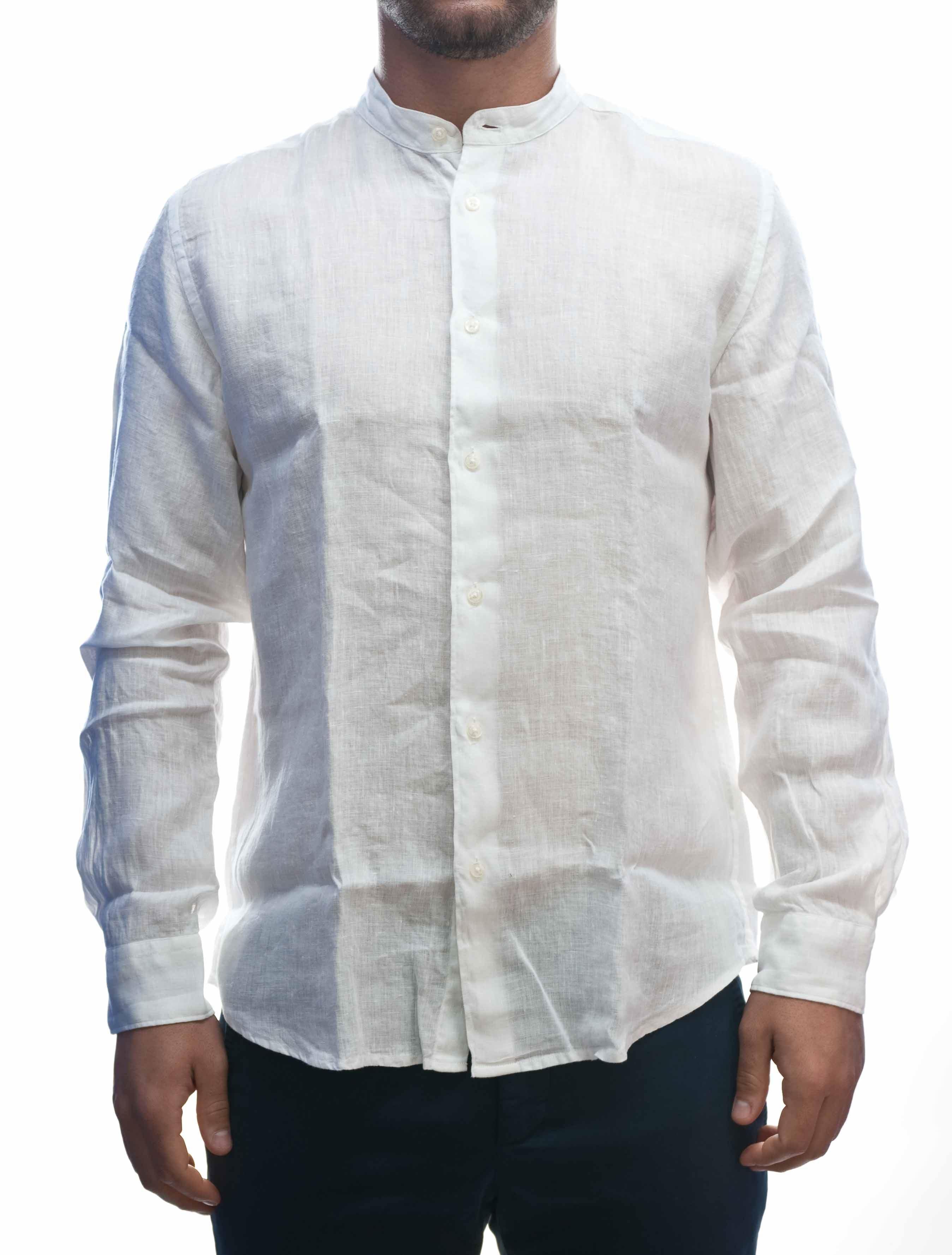 Immagine di Camicia manica lunga Lino Bianco