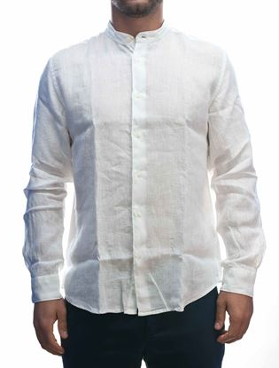 Picture of White Linen Long Sleeve Shirt