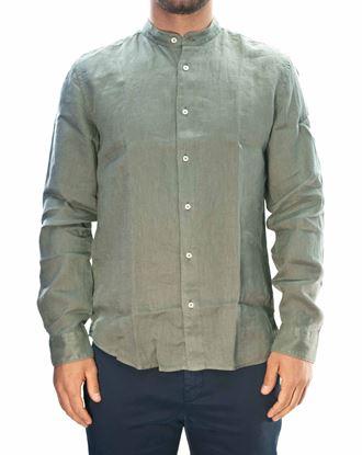Immagine di Camicia manica lunga lino verde