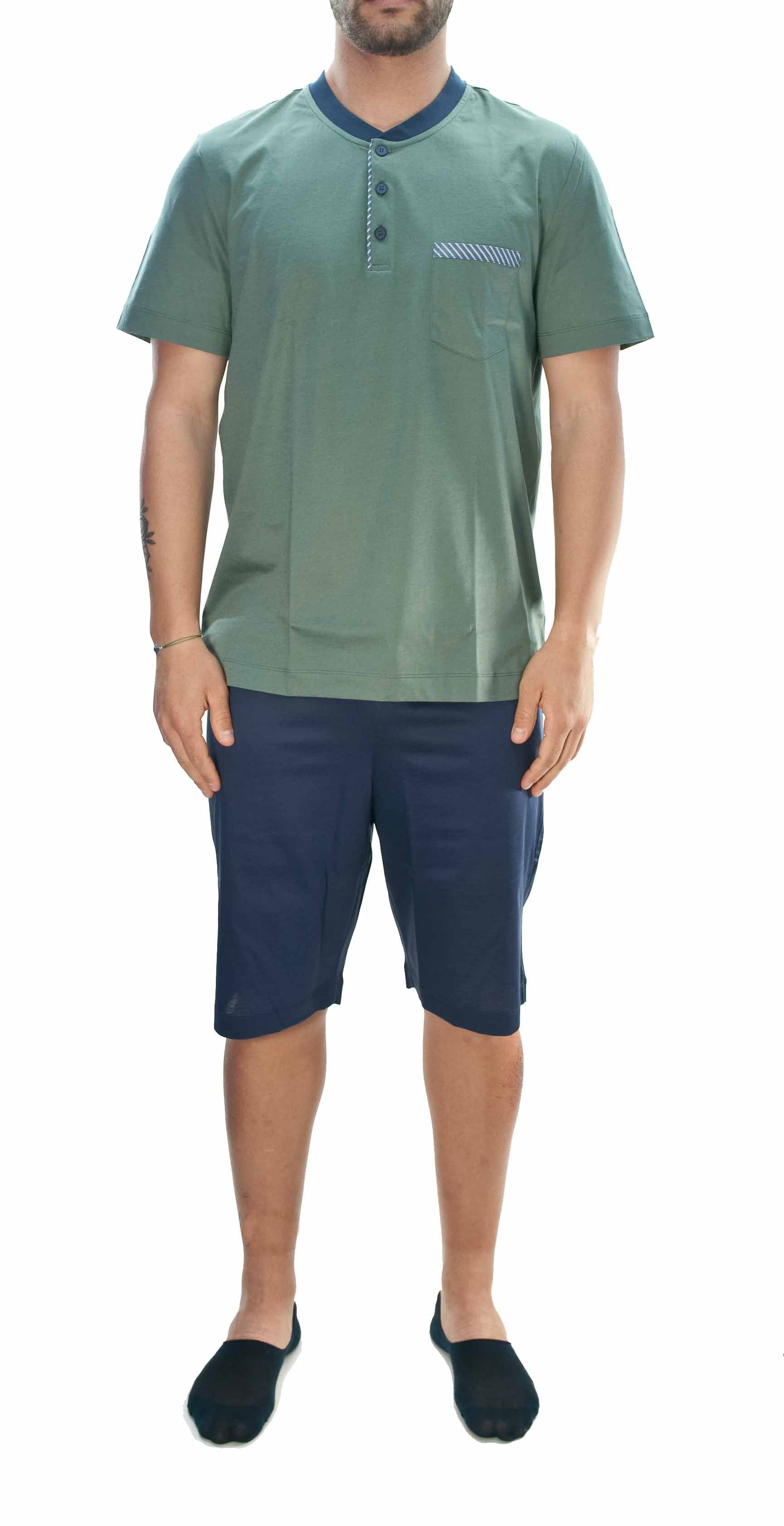 Picture of Pigiama corto in jersey di cotone verde