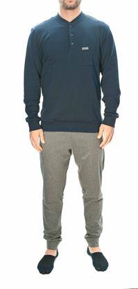 Picture of Dark blue jersey cotton pyjamas