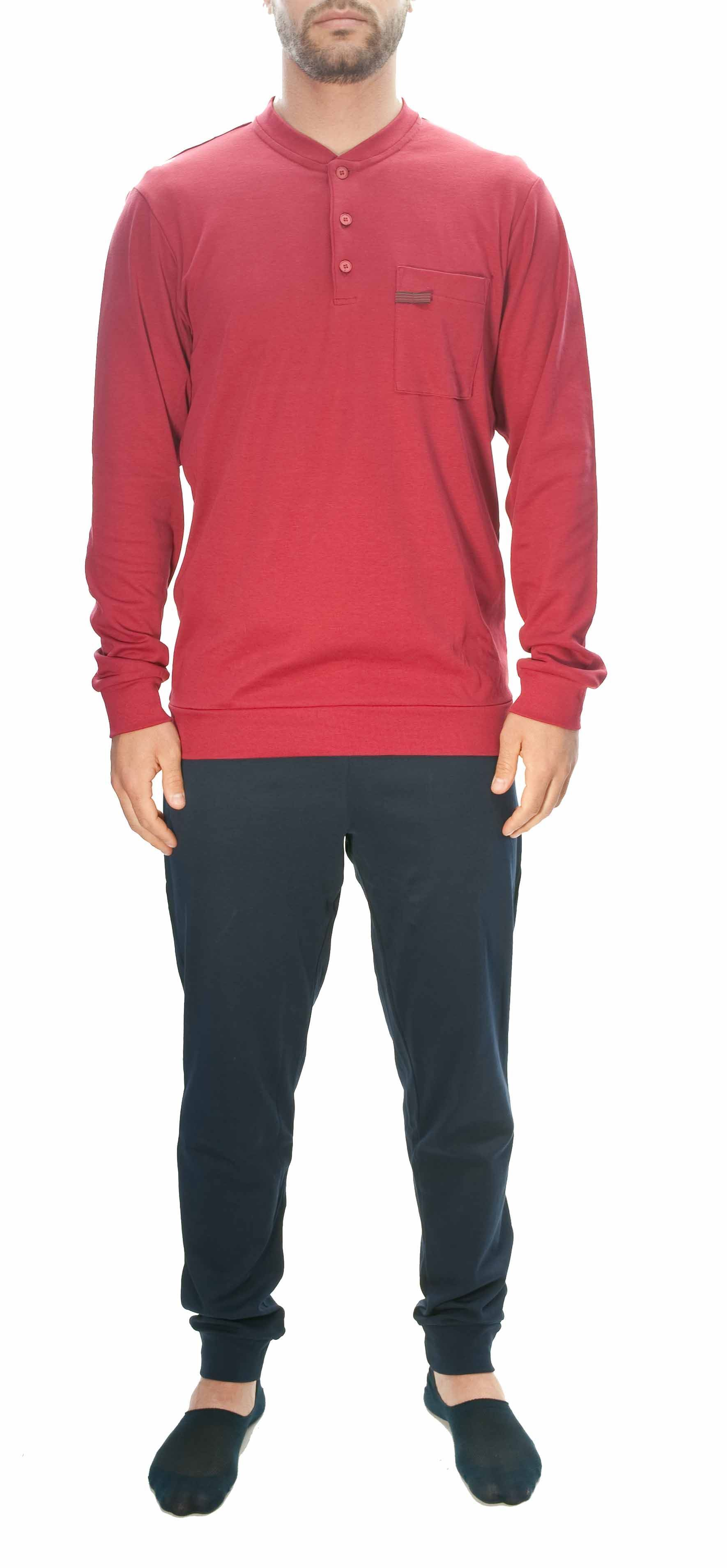 Picture of Red jersey cotton pyjamas