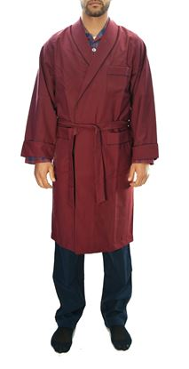 Picture of Burgundy wool nigtgown