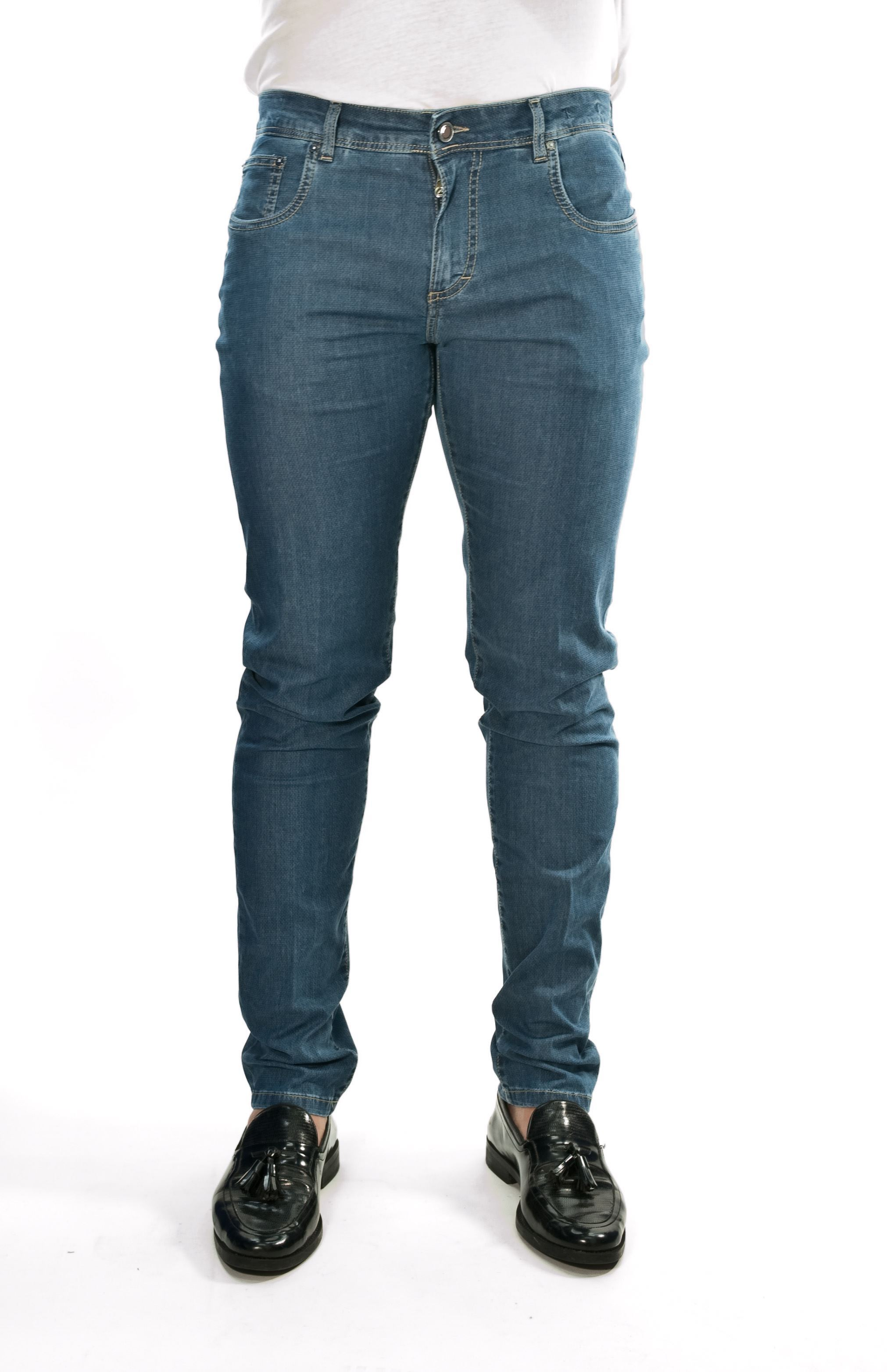 Picture of Micro pattern Summer cotton jeans