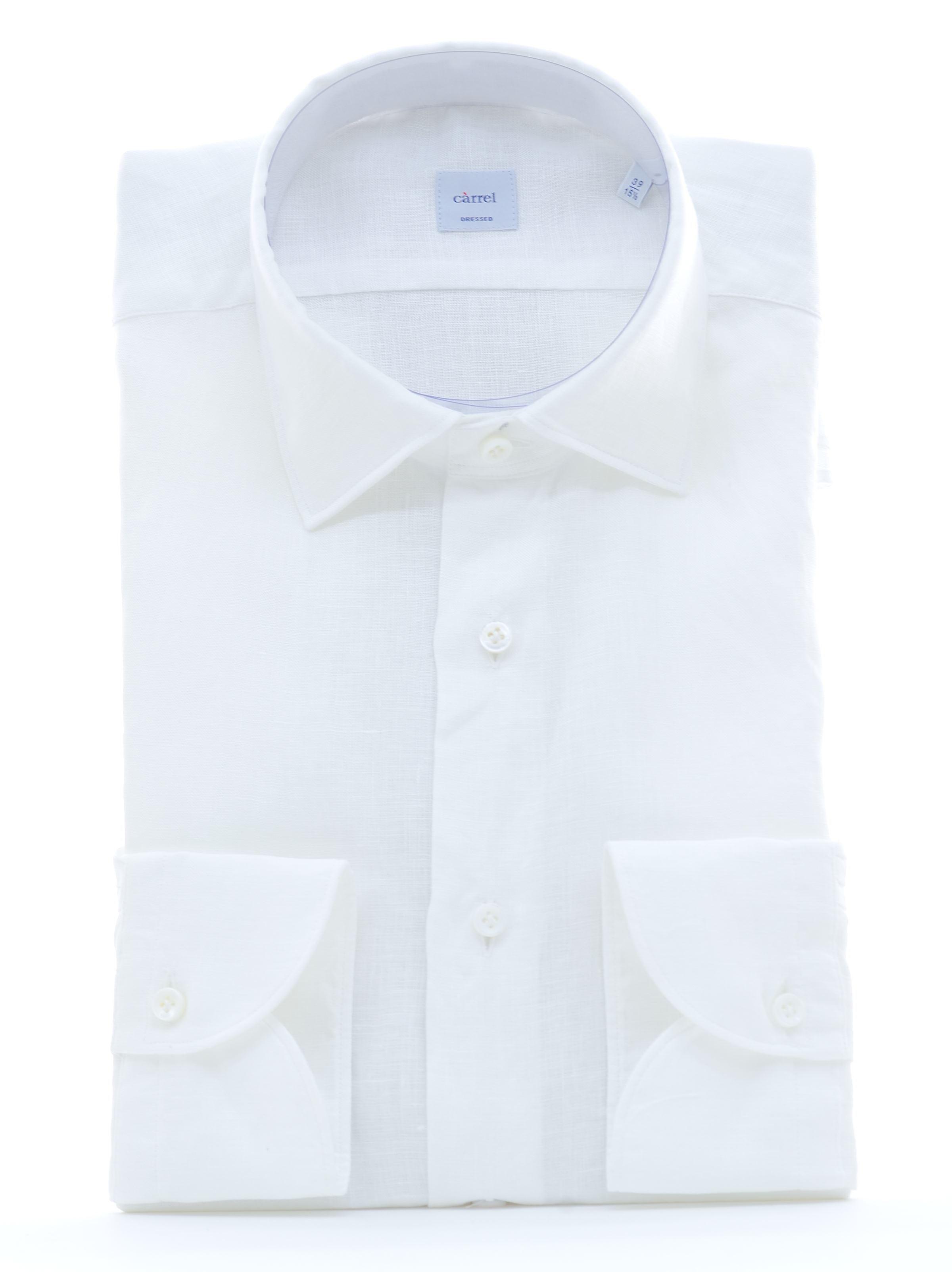 Immagine di Camicia in lino lavato bianco