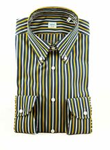 Picture of Striped shirt blue background