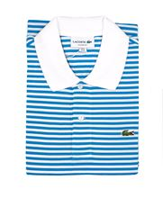Picture of Striped polo PH2382 3YD Blanc/Bleu