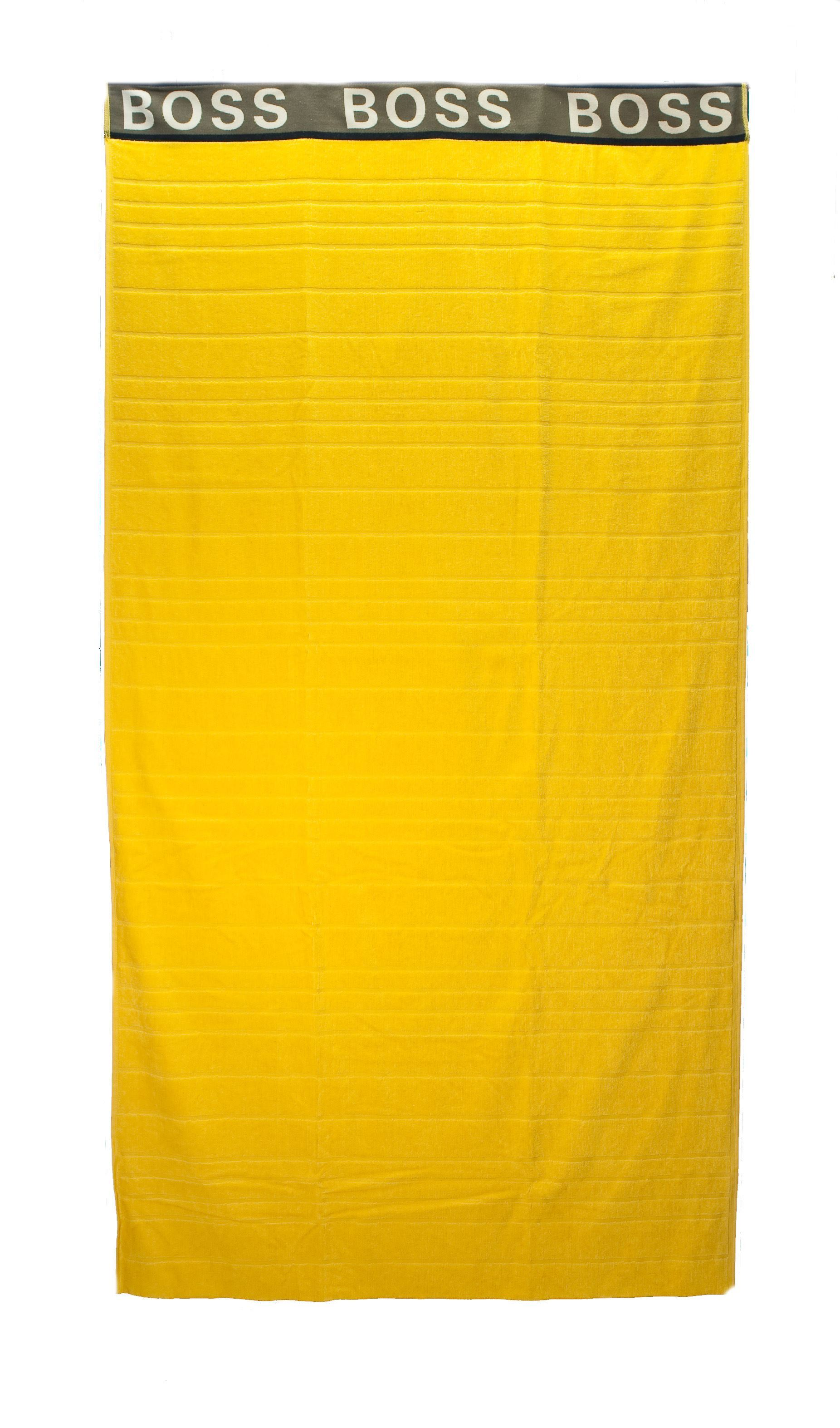 Picture of Yellow striped beach towel