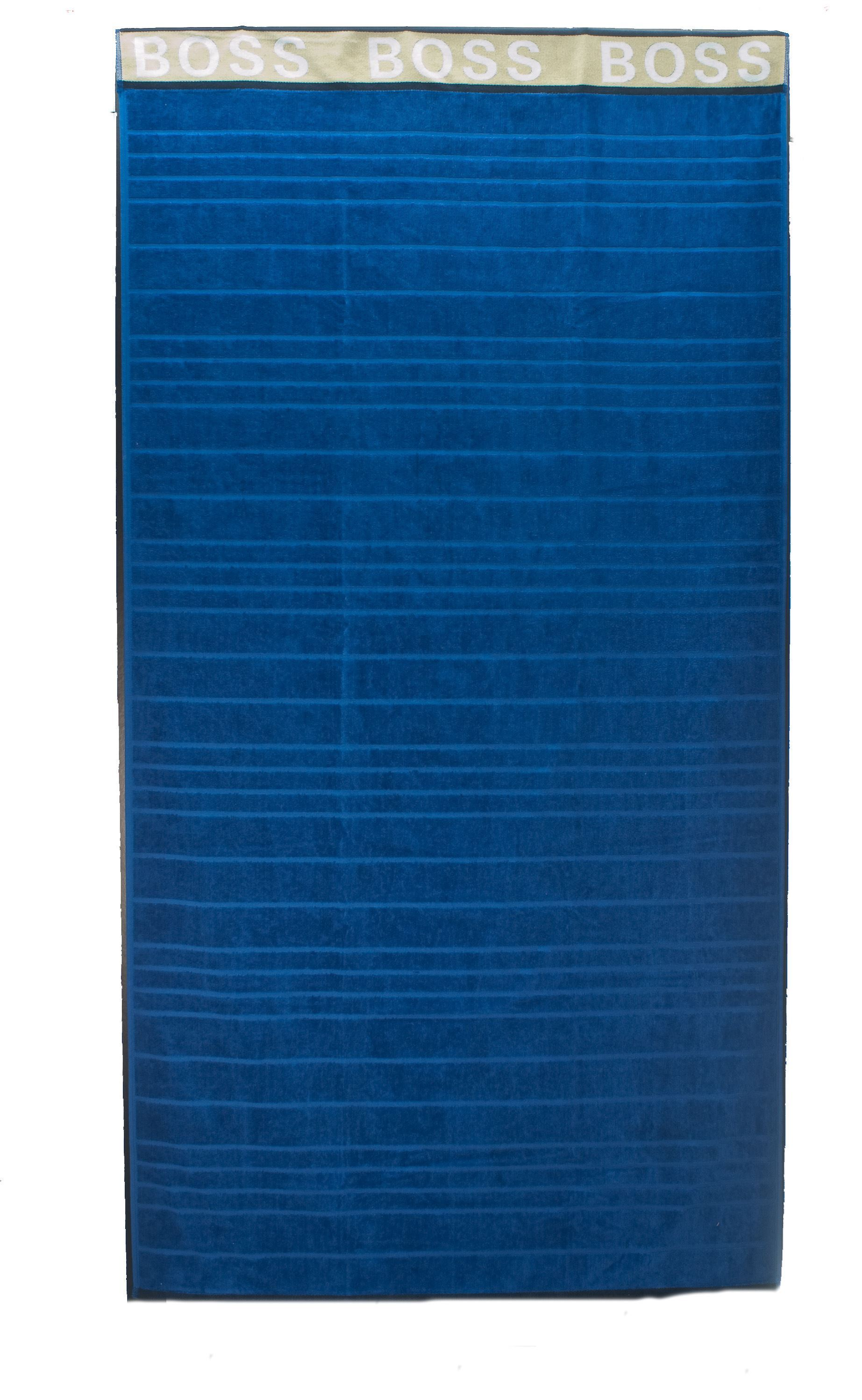 Picture of Blue Striped beach towel