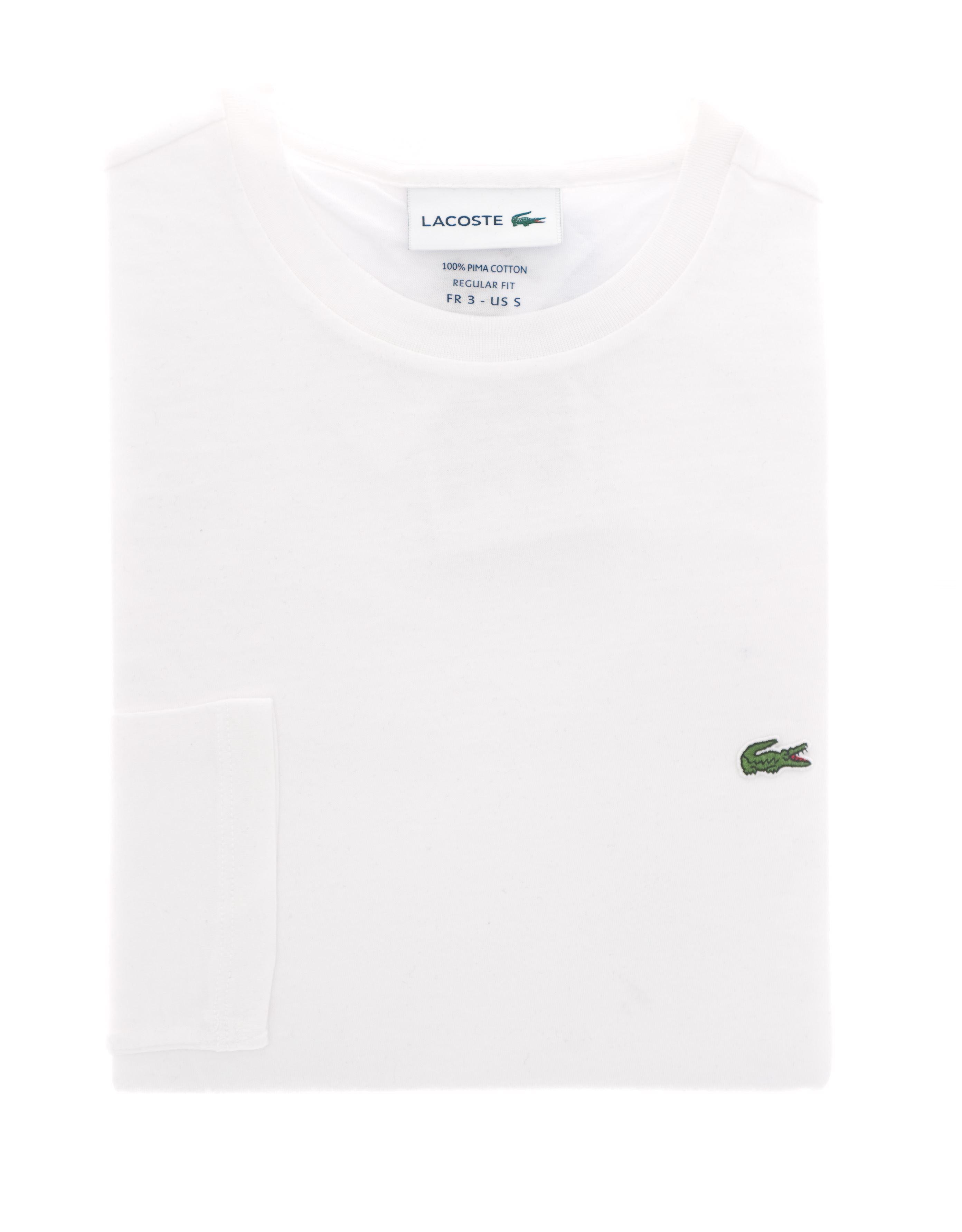Immagine di T-Shirt cotone manica lunga bianca