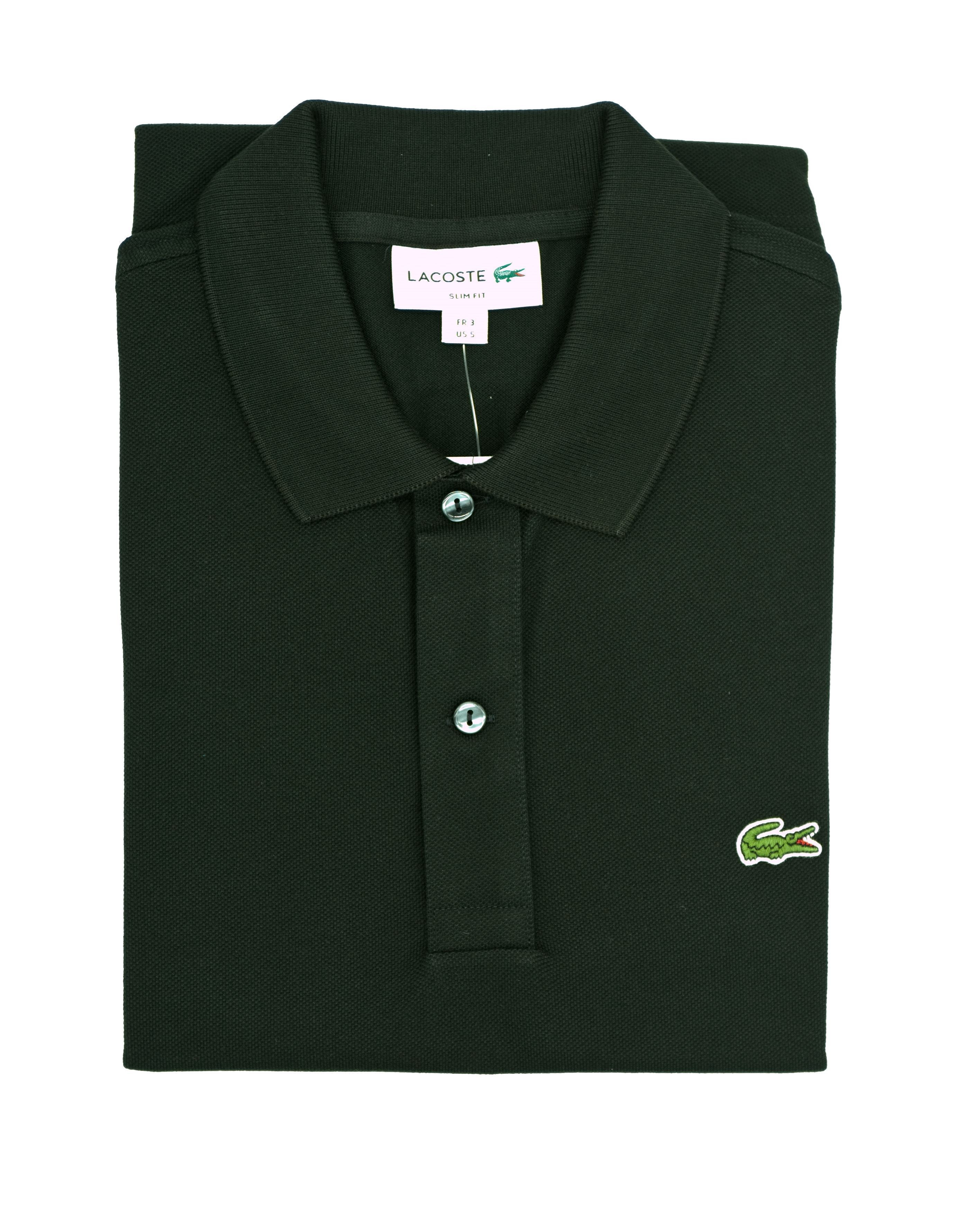 Picture of Black Lacoste polo