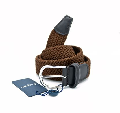 Picture of Brown braided elastic belt