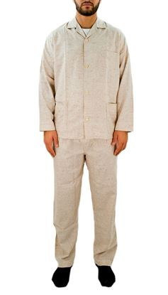 Picture of Cotton and silk men's open pajamas