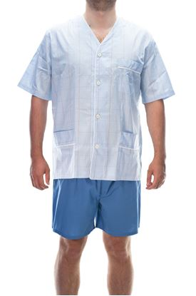 Picture of Short pajamas in poplin cotton