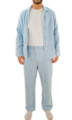 Picture of Men's Flannel pajamas with buttons