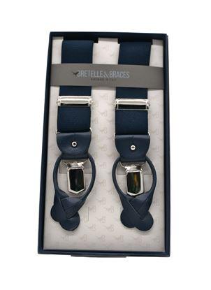 Immagine di Bretelle in elastico doppio aggancio blu