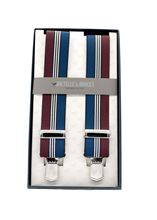 Picture of Blue and burgundy elastic braces