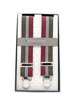Picture of Burgundy and green elastic braces
