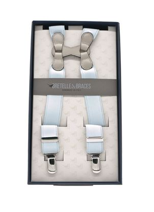 Immagine di bretelle in elastico grigio perla