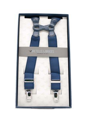Immagine di bretelle in elastico blu
