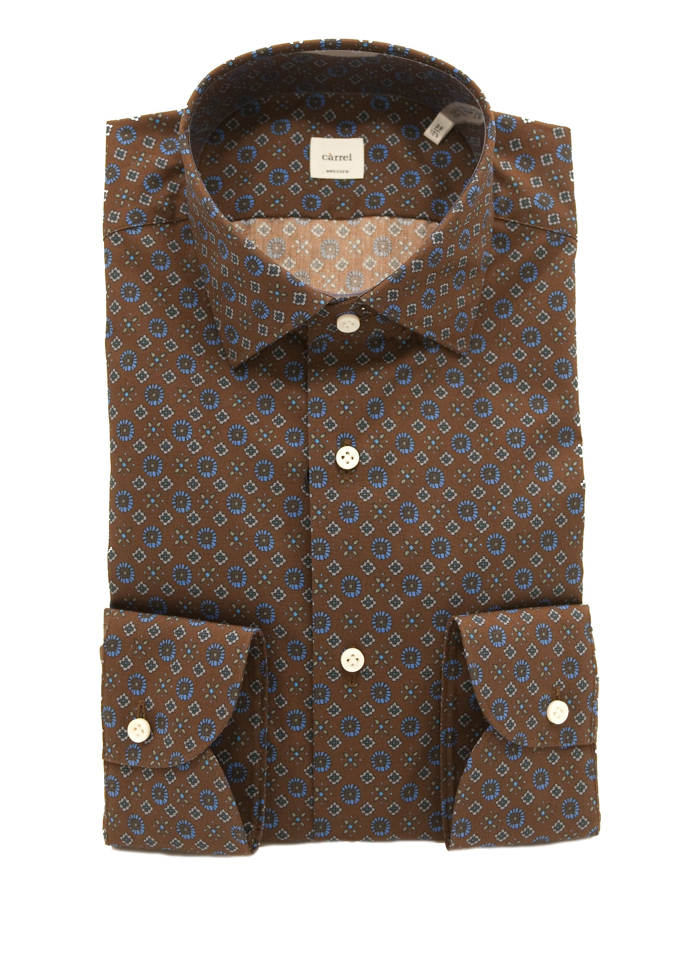 Picture of Patterned Shirt Brown Background