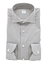 Immagine di Camicia fondo bianco a righe grigie