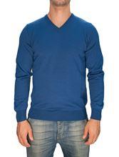 Picture of Trefili® Light blue merino wool v-neck