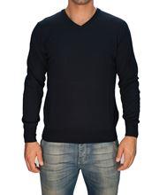 Picture of Trefili® Dark blue merino wool v-neck
