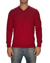 Picture of Trefili® Ruby merino wool v-neck