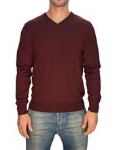 Picture of Trefili® Burgundy merino wool v-neck