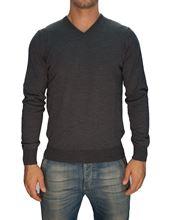 Picture of Trefili® Dark grey merino wool v-neck