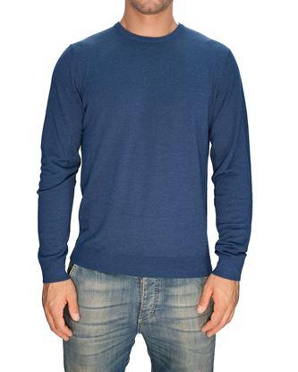 Immagine di Girocollo lana seta cashmere blu chiaro