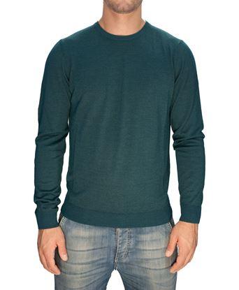 Immagine di Girocollo lana seta cashmere verde