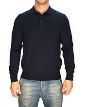 Immagine di Polo lana merino Trefili® Blu