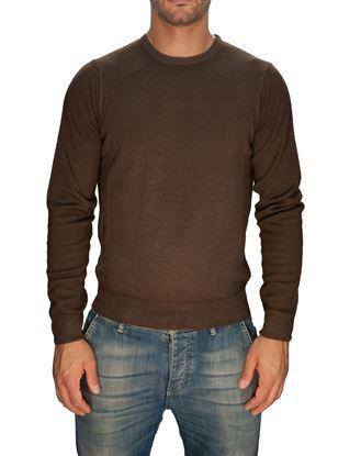 Immagine di Girocollo lana merino lavato Marrone