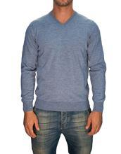 Picture of Trefili® Powder blue merino wool v-neck
