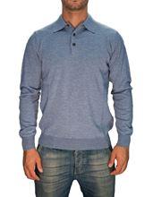 Immagine di Polo lana merino Trefili® Azzurro polvere