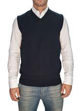 Picture of Trefili® Dark Blue merino wool vest