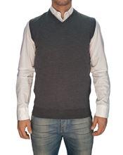 Picture of Trefili® Dark grey merino wool vest