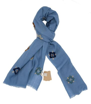 Picture of Light blue wool scarf